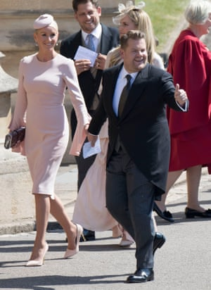James Corden apparently played a key role in after-party 'banter' at the royal wedding.