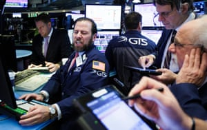 A trader works on the floor of the New York Stock Exchange at the Opening Bell in New York, New York, USA, on 16 February 2017.