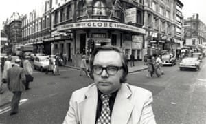 Michael Billington outside the Globe theatre (now the Gielgud theatre) in Shaftesbury Avenue, London.