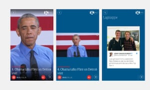 Videos and tweets in the Campaign Minute