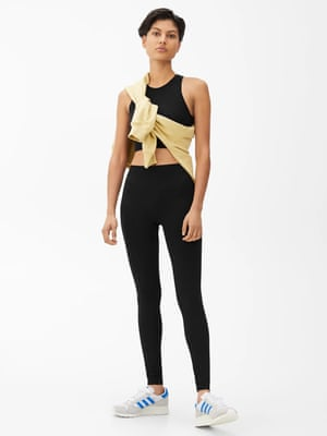 Seamless yoga top, £25, Seamless yoga tights, £35,  arket.com