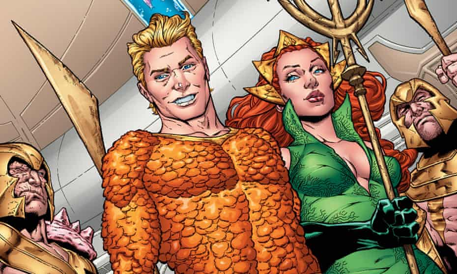 Aquaman with his fiancee Mera, as depicted in DC's Rebirth storyline.