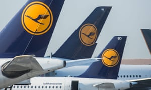 Lufthansa planes at airport. The airline will offer high-speed Wi-Fi from 2017.