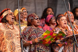 Central Australian Aboriginal Women's Choir perform German hymns and other sacred music in Western Arrarnta and Pitjantjatjara languages.