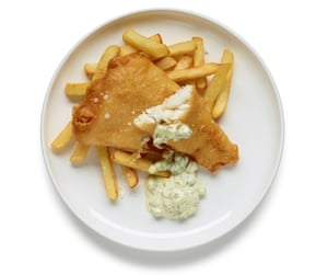 Felicity Cloake's chippy-style fish and chips.