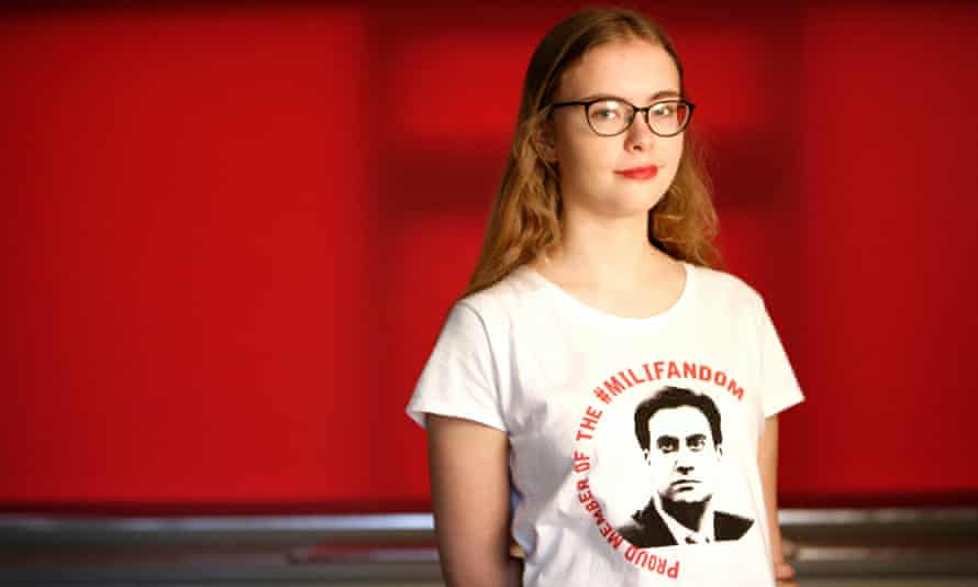 Abby Tomlinson, who founded the Milifandom hashtag during the 2015 general election