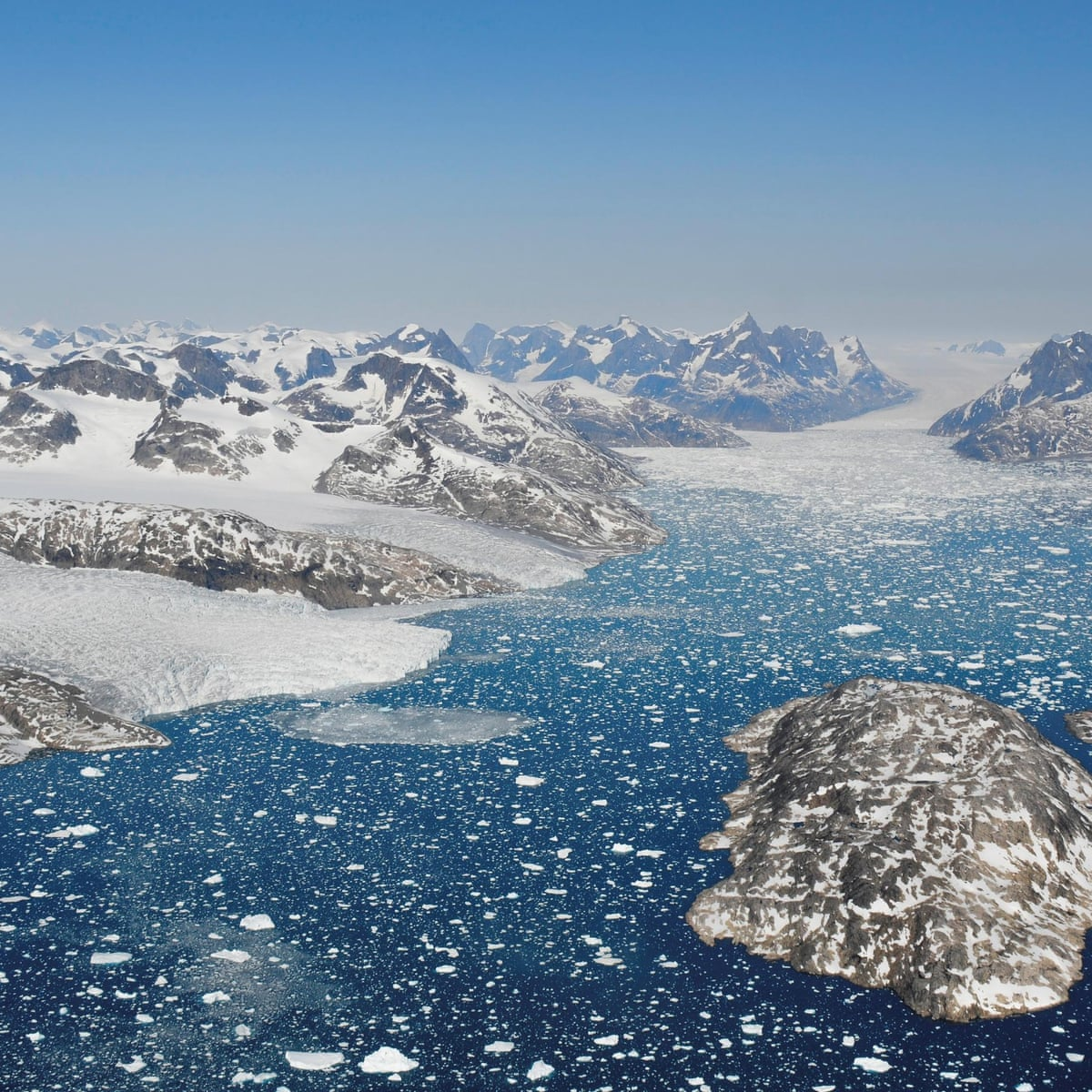 Greenland's ice sheet melting seven times faster than in 1990s |  Environment | The Guardian
