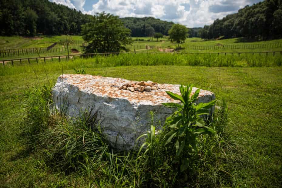 Elephant grave at the Elephant Sanctuary, Hohenwald.