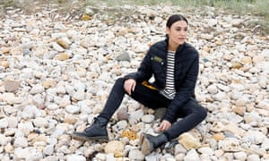 'Personal turmoil': Nadine Shah on the beach at Whitburn, South Tyneside, last month.