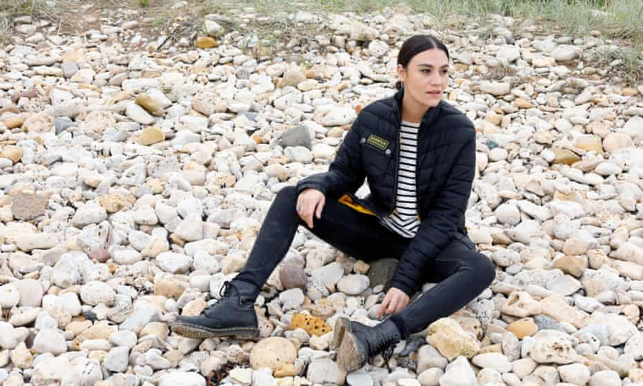 'Personal turmoil': Nadine Shah on the beach at Whitburn, South Tyneside, last month.
