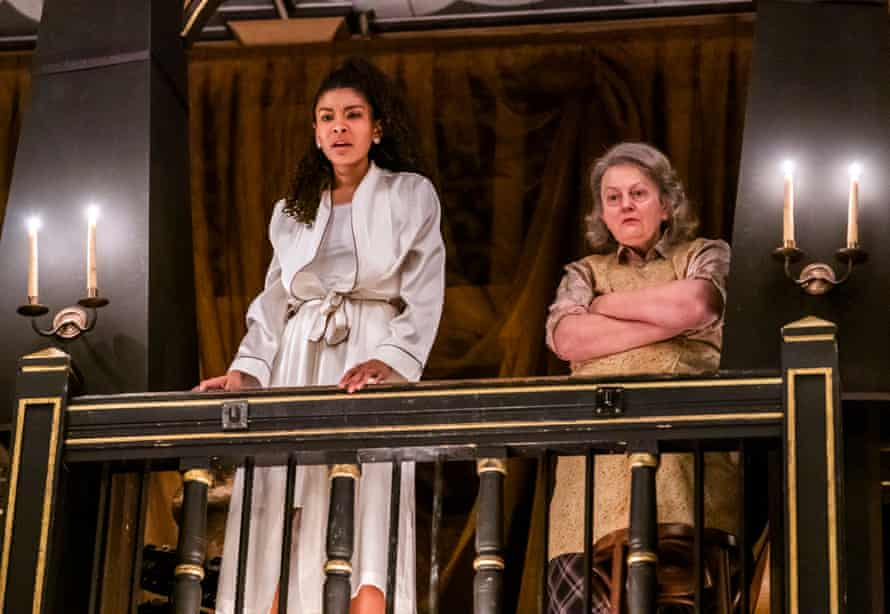 Thalissa Teixeira, left, and Stephanie Jacob in Women Beware Women at the Sam Wannamaker Playhouse.