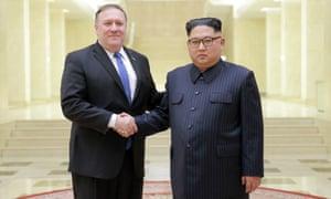 Mike Pompeo meets Kim Jong-un in Pyongyang.