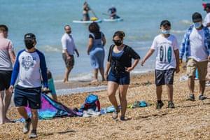 Beachgoers in Brighton last weekend