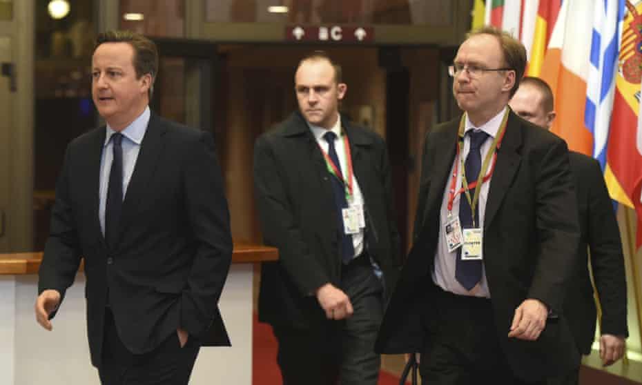 David Cameron with  Sir Ivan Rogers
