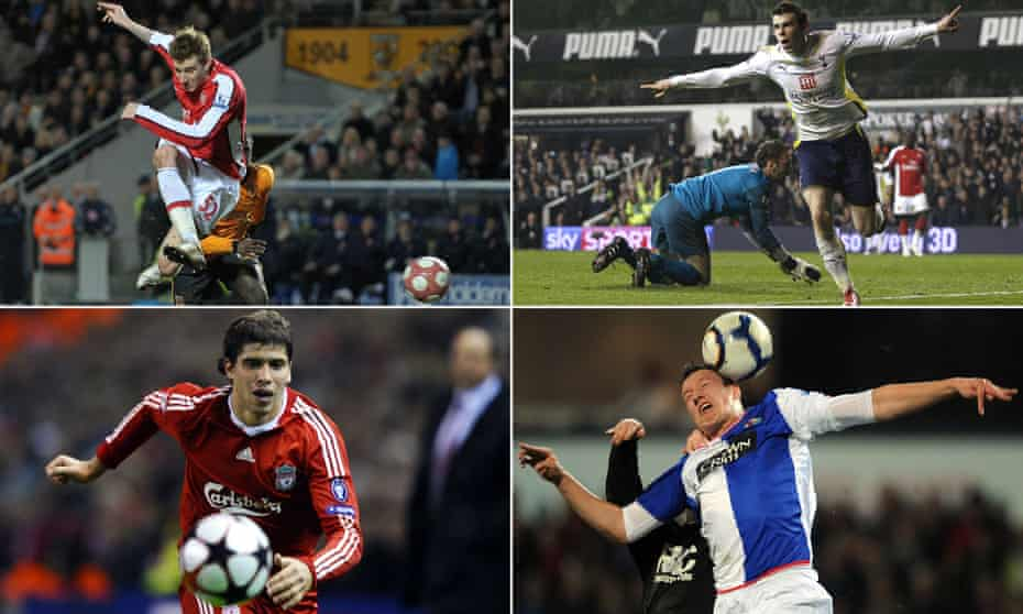 Nicklas Bendtner, Gareth Bale, Phil Jones and Emiliano Insúa back in the 2009-10 season.