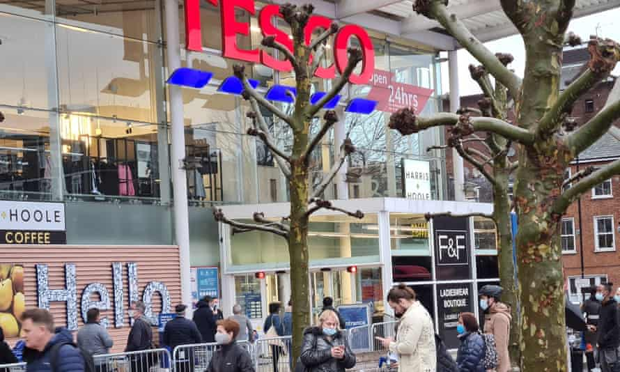 Tesco customers face purchase limits on certain items though the supermarket says they can 'shop as normal'.