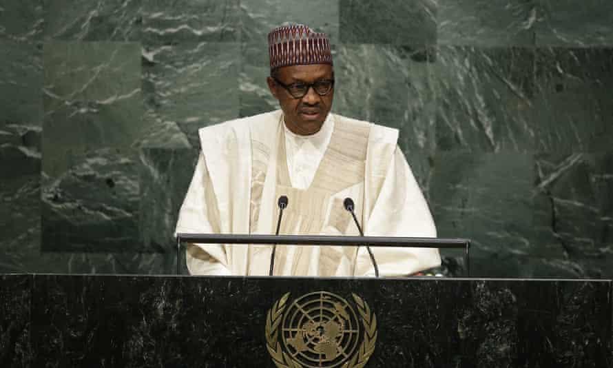 President Buhari at the UN, September 2015