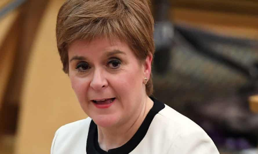Nicola Sturgeon delivers the programme for government during a session in the debating chamber of the Scottish parliament in Edinburgh