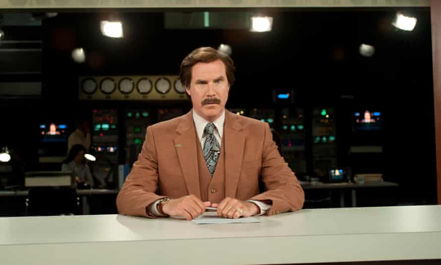 'White hot, like molten lava' ... Will Ferrell as Ron Burgundy.