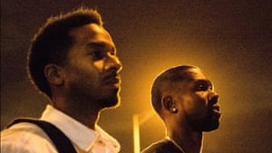 Jharrel Jerome as Kevin and Ashton Sanders as Chiron in Moonlight's second act.