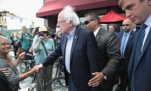 Bernie Sanders in Oakland.