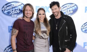 Keith Urban, Jennifer Lopez and Harry Connick Jr arrive on set of American Idol in Los Angeles.