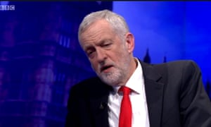 Jeremy Corbyn speaks to Andrew Neil