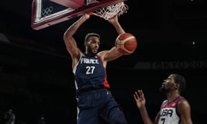 France's Rudy Gobert scores inside, of course.