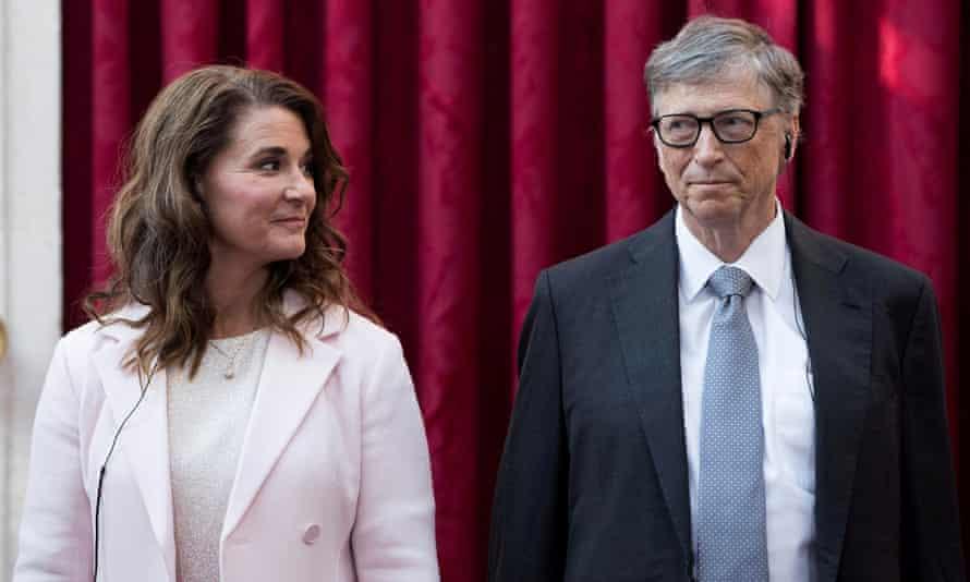 Melinda French Gates and Bill Gates in Paris in April 2017.