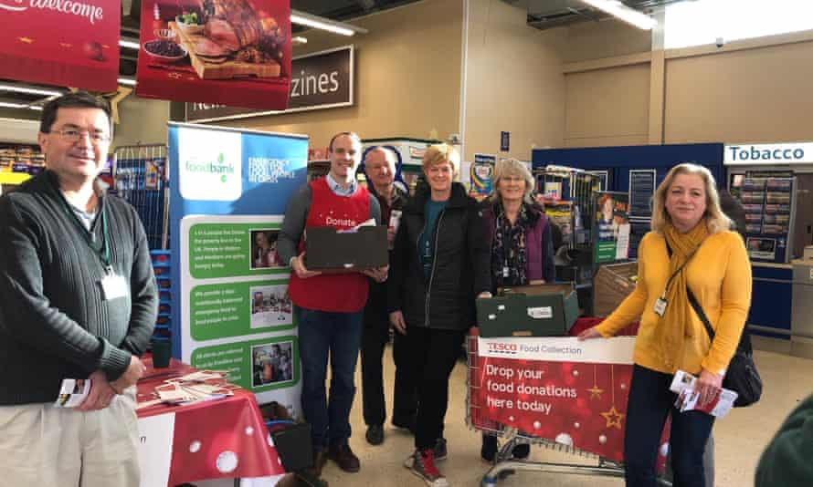 Dominic Raab tweet from November 30 20018  Thank you to Tesco in Molesey and the Trussell Trust for partnering to encourage customers to generously provide food collections for families in our community, who are struggling at this time of year.