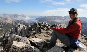 Guide Sara Lundy in the Sawtooth mountains