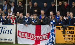 Wealdstone fans pictured in 2012. The chairman says having supporters at games and in the club's bar will be vital to the budget.