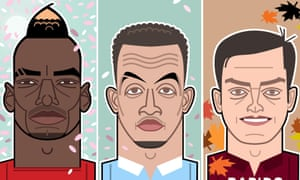 Paul Pogba, Ravel Morrison and Terry Cooke.
