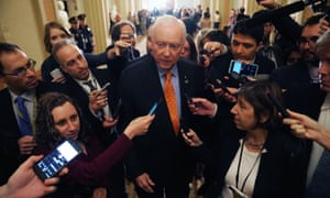 The Senate finance committee chairman, Orrin Hatch. His committee is seeking to repeal the Affordable Care Act's requirement that Americans get health insurance.