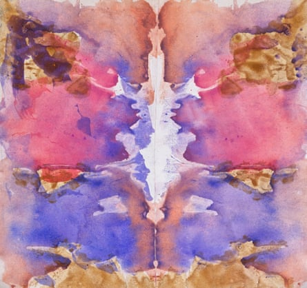 An example of Ithell Colquhoun's work using the decalcomania technique.