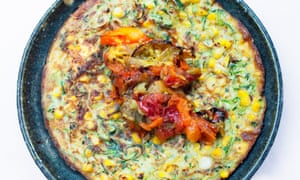 Delicious and nutritious: sweetcorn cake.