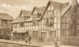 Shakespeare's Birthplace In Stratford-Upon-Avon, England, from 1890.