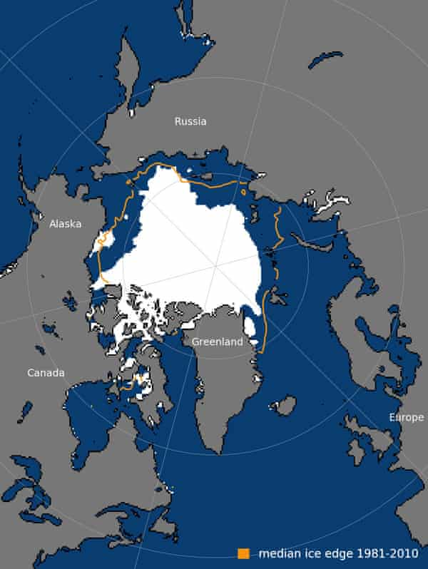 Arctic sea ice extent for 15 August 2018