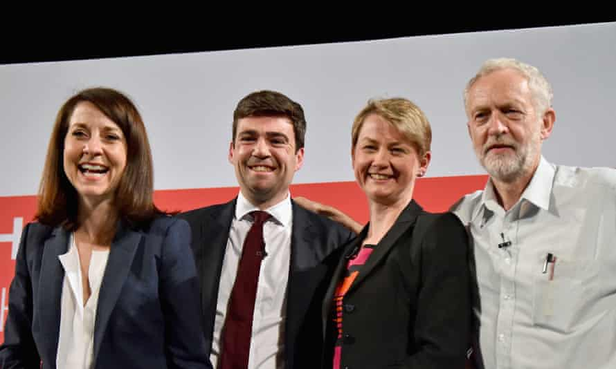 Labour leadership candidates Liz Kendall, Andy Burnham, Yvette Cooper and Jeremy Corbyn (from left).