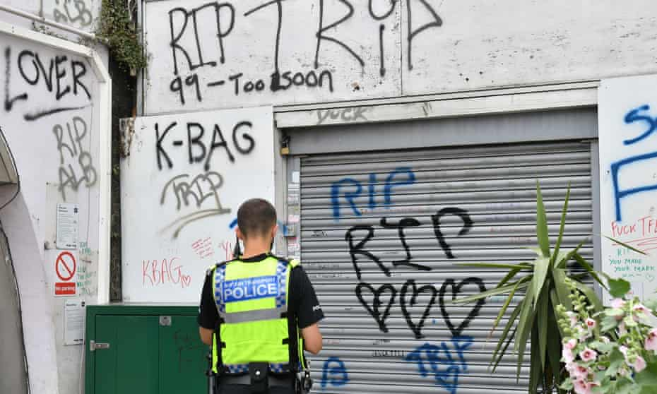 Tributes to the three graffiti artists at Loughborough Junction station in south London.