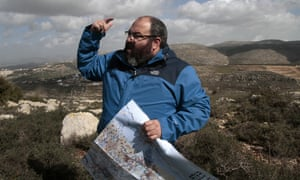 Yehuda Shaul during a tour of the West Bank.