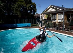 Olympic Canoeist Jess Fox Training in Isolation.
