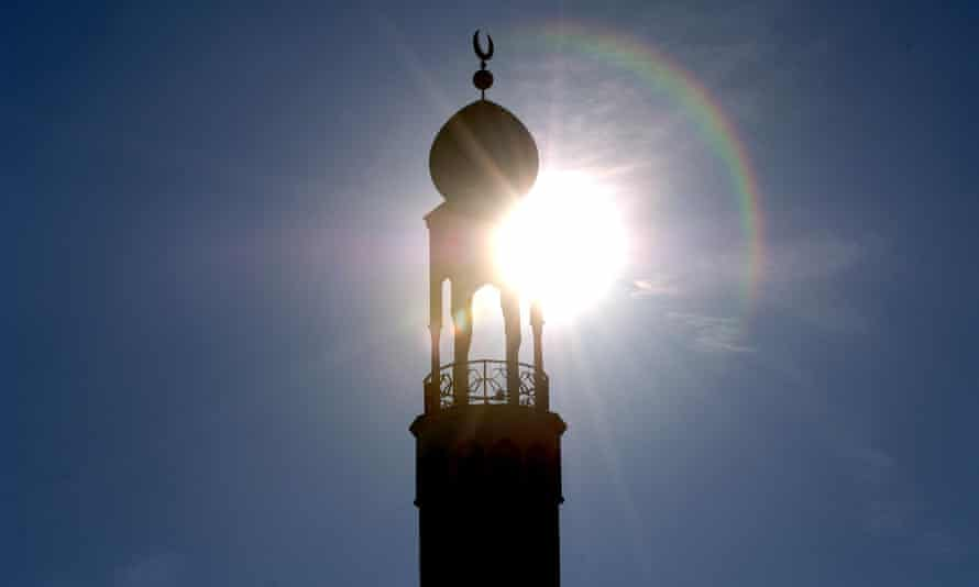 The minaret of Birmingham Central Mosque