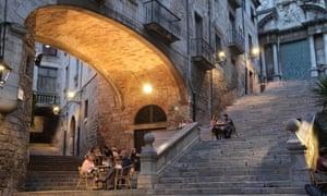 The steps of Sant Martí Sacosta, Girona, Spain