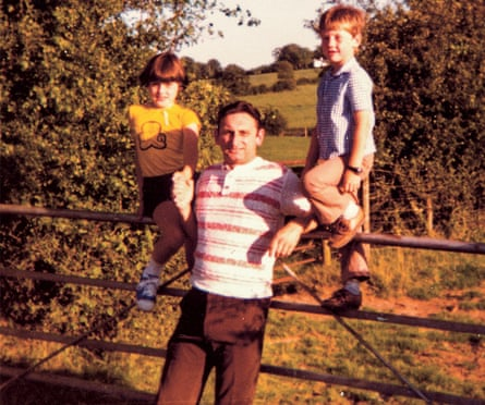 Grace Dent, aged eight, with her dad and younger brother Dave at Brownie camp outside Carlisle