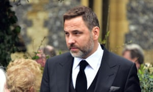 Entertainer David Walliams at Ronnie Corbett's funeral.