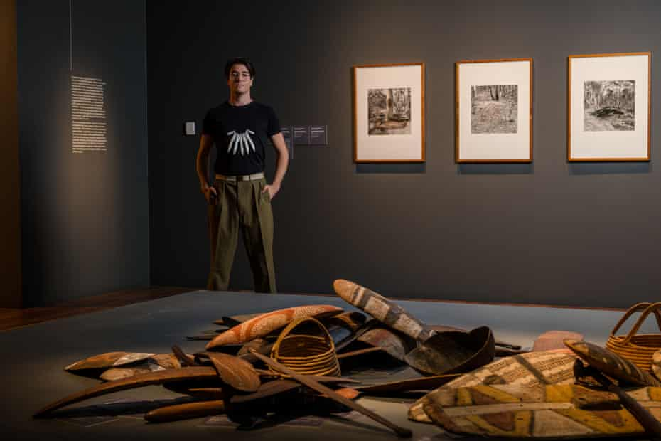 NGV's Indigenous art curator Myles Russell-Cook.