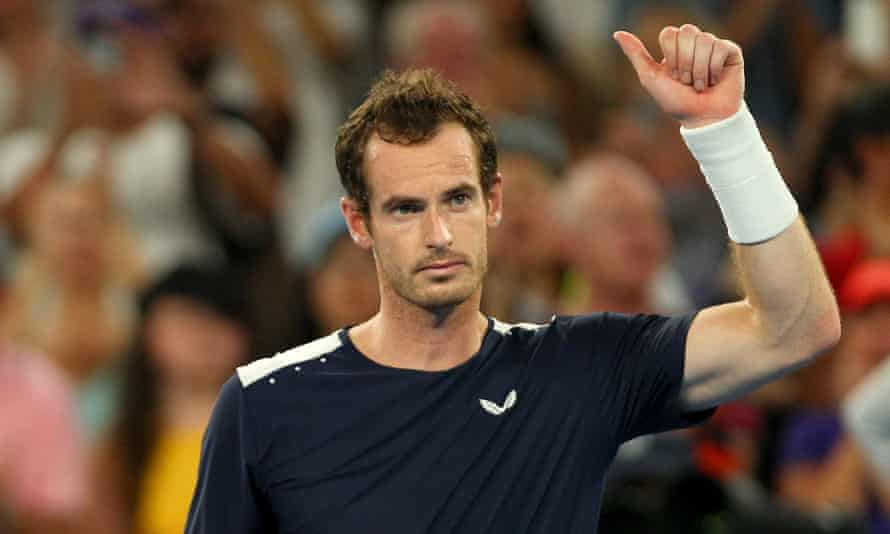Andy Murray thanks the crowd after his Australian Open defeat.
