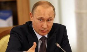 The Russian president, Vladimir Putin