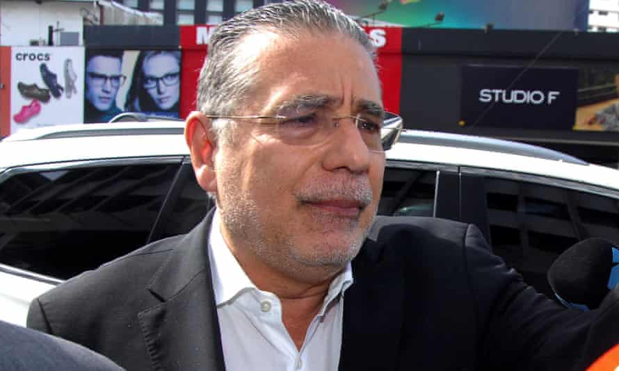 Ramon Fonseca, founding partner of law firm Mossack Fonseca, arrives at the Public Ministry office for the Odebrecht corruption case in Panama City on Thursday.